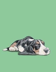 Retrato de mascotas personalizados 8 x 8 pulgadas por ArtbyManda