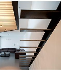 fresnada y zamora: house for maria angeles and jose Interior Staircase, Staircase Design, Stair Slide, Stair Elevator, Cantilever Stairs, Stairs To Heaven, Architecture Details, House Architecture, Villa Design