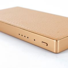 457c63c4216a55 Taupe Leather and Rose-Gold Aluminium Portable Charger from Ted Baker,  available at Proporta