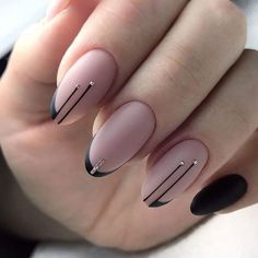 65 Gorgeous Almond Matte Nail Designs You'll Love Almond matte nails can be seen everywhere in the street. They are one of the most popular nail shapes. This nail shape is named Square Nail Designs, Black Nail Designs, Nail Art Designs, Stiletto Nail Designs, Fancy Nails Designs, Fancy Nail Art, Classy Nails, Stylish Nails, Matte Nail Art