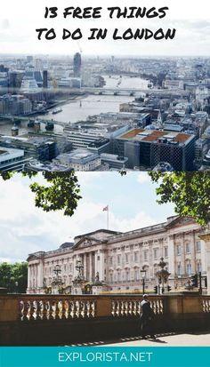 13 Totally Fun + Free Things to Do in London! via Explorista