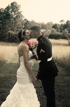 country marine corps wedding <3