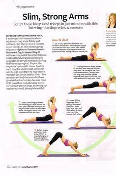 Slim Strong Arms by Kristin McGee, health.com via littlebgcg #Yoga #Arms