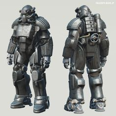 """Fallout 4 : T-49 Power Armor of """"The Storyteller"""". By DogtoothCG Unoctium. #Post_Apocalyptic #Sci_Fi"""