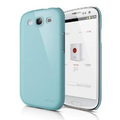 elago G5 Slim Fit Case for Galaxy S3 (Fits Verizon, AT, T-Mobile, Sprint and other Carriers) - Glossy Coral Blue - ECO PACK
