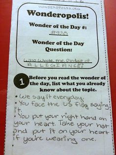 This is awesome! I would use a copy at first then have students make it in a journal see Upper Grades Are Awesome: Wonderopolis Trifold Elementary Library, Elementary Teacher, Upper Elementary, Teaching Reading, Teaching Resources, Teaching Ideas, Learning Activities, Reading Centers, Reading Room