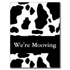 SOLD 50 We're Moving Cow Humor Address Change Post Cards to the UK