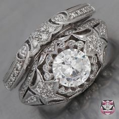 Art Deco Ring Setting  Floral Motif