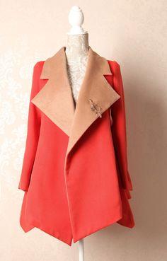Korean fashion woolen winter coat