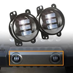 2pcs 4 Inch 30w Cree Led Fog Lights Len Projector for Jeep Tractor Boat Led Fog Lamps Bulb Auto Led Headlight Driving Offroad Lamp for Jeep Wrangler Dodge Chrysler Front Bumper Lights