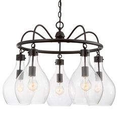Check out Oiled Bronze Chandelier - 5-Light from Shades of Light