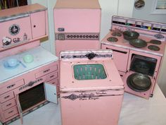 1950's Wolverine Metal Toy Kitchen Set of Four by AngelWingsandCT, $105.00