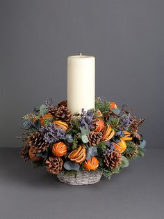 Orange and Lavender Table Centre
