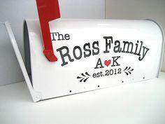 Custom Wedding Card Mailbox  Wedding Card Box  by VillageVinyl, $49.00