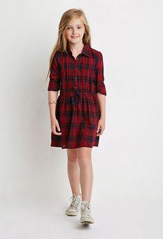 Vestido Estampado Cuadros (Niña) - vestidos - 2000172951 - Forever 21 EU Español