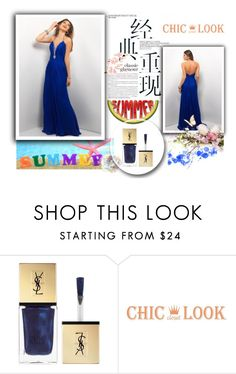 """""""robe de soirée-prom dress-43"""" by sophie-robelle ❤ liked on Polyvore featuring Yves Saint Laurent"""