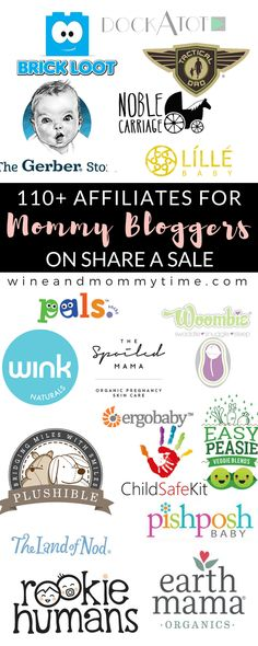 110 Affiliates Programs for Mommy Bloggers on Shareasale