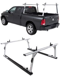 Adjustable sliding ladder rack that provides stable transportation for ladders, pipes and wood. Compatible with the Ford-F-150 , use the ladder rack for woodwork projects!