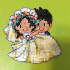 Wedding hama beads by Yeam Yen