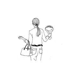 #illust#illustrator#illustration#sketch#drawing#artwork#design#saorinogishi#デザイン#イラスト#イラストレーター#イラストレーション#スケッチ#ファッション#ファッションイラスト#コーデ#日々#暮らし#ボールペン#デザイン#ヘアスタイル#ポニーテール#花 🌸