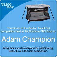 Travel Cot, Brisbane, Competition, Champion, Wellness
