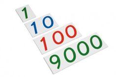 große Zahlenkarten, 1-9000