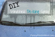 If you are sick of scraping ice of your windshield but still have 6 more weeks of winter to go - try out this DIY De-icing spray!