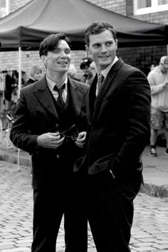 Double hotness on the set of Anthropoid. Cillian Murphy, Jamie Dornan :: Laters, baby : Photo