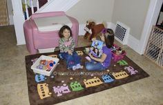 Cute Kids Train Rug