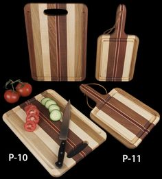 Hardwood Cutting Board with Grip & Trough Board with Handle