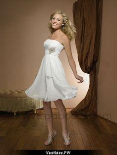 Increibles Vestidos de Novia Cortos