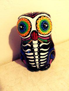 dia de muerte skulls | craft # paint # owl # sugar skull