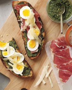Make your vinaigrette and hard-cook your eggs in the morning. When you're ready for dinner, just toss the salad and assemble the sandwiches.