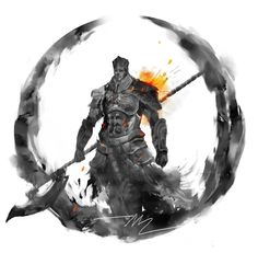"""Soulstober Day 21! Champion Gundyr """"A prisoner is one who has staked everything on a belief, a proclivity most apparent in the greatest of champions"""" -Champion Gundyr"""