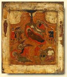 Nativity - exhibited at the Temple Gallery, specialists in Russian icons