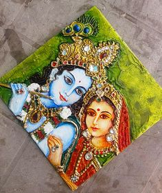 Glass Paintings for Sale,Glass Painting Courses in Delhi,Tanjore Paintings courses in India Lord Ganesha Paintings, Ganesha Art, Krishna Painting, Krishna Art, Mural Painting, Mural Art, Texture Painting, Fabric Painting, Murals