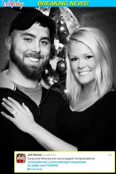Corey Simms got engaged to girlfriend Miranda Patterson in Dec 2012!