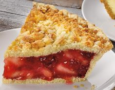 """""""apple raspberry almond streusel""""  ~ This pie is absolutely scrumptious!  Nice dessert for autumn!"""
