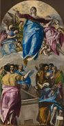 El Greco.  The Assumption of the Virgin - Google Art Project.  This one is at the Art Institute of Chicago, a treat to see!