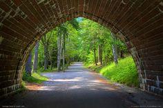 Carriage Road Bridge at Eagle Lake in Acadia National Park