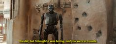 K-2! I love you. You're like Chewie and R2 combined!