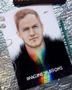 Drawing of Dan Reynolds from Imagine drawing.  tags: art drawing imagine dragons arts band dan reynolds 2017 evolve new album