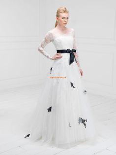 Spring Long Sleeve Appliques Wedding Dresses 2014