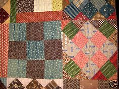 Antique Sample Quilt Pennsylvania 1870'S | eBay