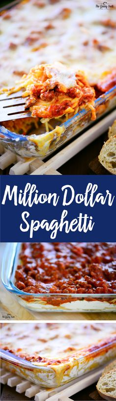 It doesn't COST a million dollars to make, it just tastes THAT GOOD! This million dollar spaghetti casserole is pure comfort food full of flavor and cheesy goodness.