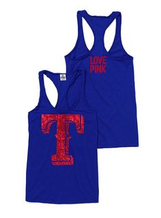 Texas Rangers tank!!- would be a great workout top, too!