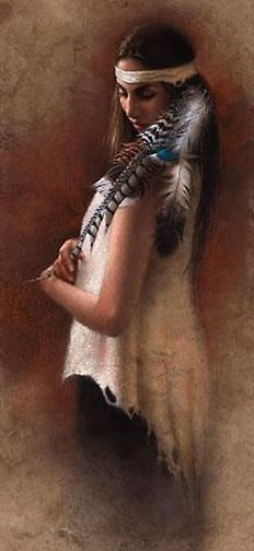 Cheerokee Indians princess | Indian Paintings - - Cherokee Princess western art indian painting oil ...