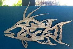 Hogfish aluminum metal game fish art sculpture... Best seller .. Plasma cut. And finished....www.metalgamefish.com