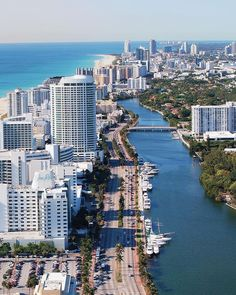 I like this image because of the view that it gives of Miami. It captures the perfect idea of what Miami is like - city, beaches, and hot weather. Miami Beach, Miami Florida, Florida Beaches, City Beaches, Sunny Isles Beach Florida, Orlando Florida, South Florida, Las Vegas, Alaska