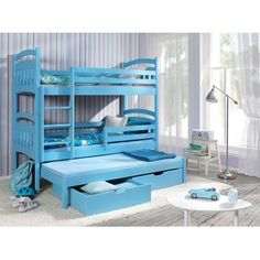 bunk beds ye perfect choice jacob 3 children triple bunk bed pine wood 22 colours 2 sizes 4 types of mattresses uk stan Triple Bunk Beds, Chloe, Bunk Bed With Trundle, Baby Kind, How To Make Bed, Bed Sizes, New Room, Montage, Bed Frame
